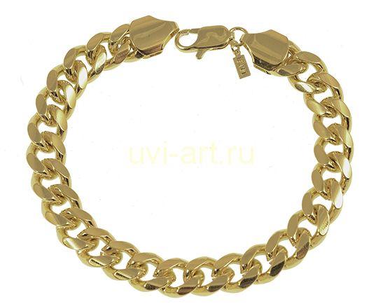 Стильный мужской позолоченный браслет, 13 мм