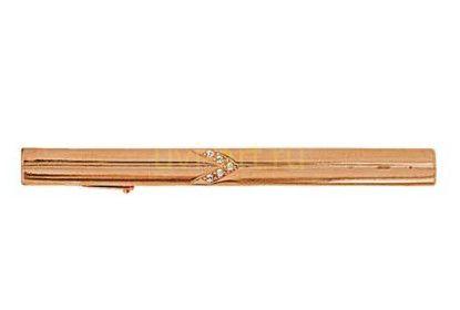 Позолоченный зажим для галстука с цирконами (арт. 788028)